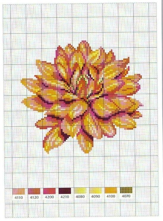Flower | cross stitch - flowers | Pinterest