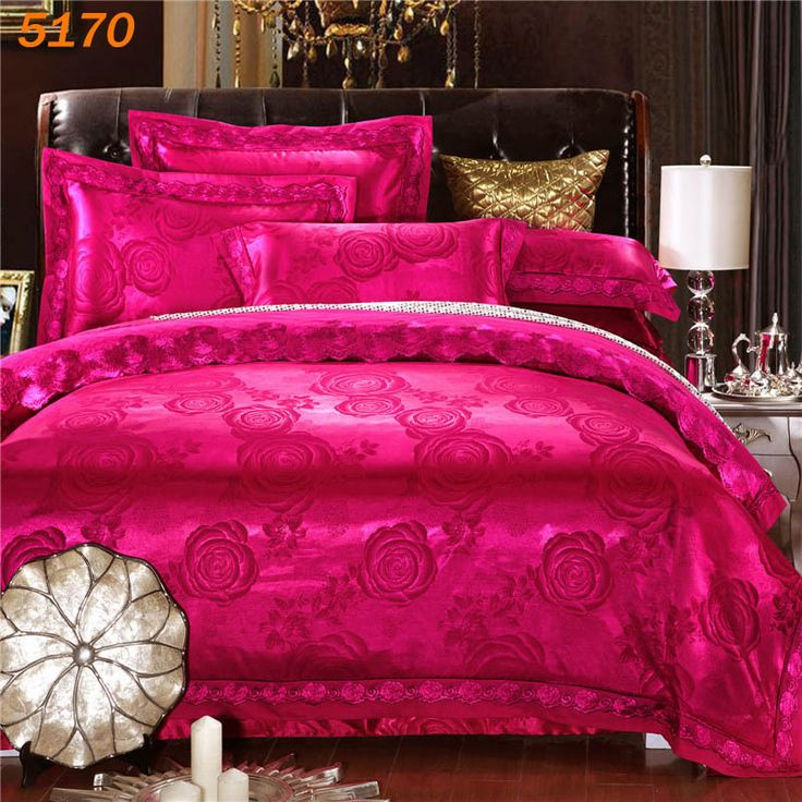 cheap bedding sets buy directly from china suppliers red flowers bedding set 4pcs wedding bed. Black Bedroom Furniture Sets. Home Design Ideas
