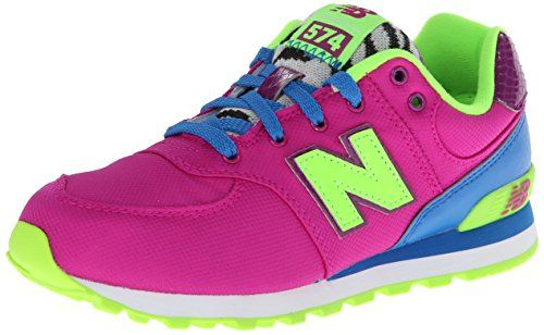 New Balance KL574 Pre Lace-Up Running Shoe (Little Kid),Pink/Blue,1 M US Little Kid. Fashion shoe. Rubber-sole. Rubber sole. Closed-toe. 75% Leather and 25% Mesh. Ethylene vinyl acetate midsole and heel. Lace-up. Canvas. Vietnam. Multi-colored.