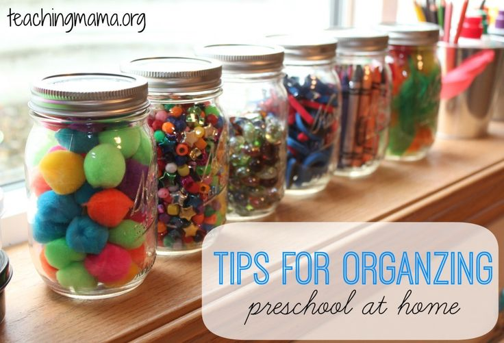Tips for Organizing Preschool at Home Pinned by SOS Inc. Resources http://pinterest.com/sostherapy.