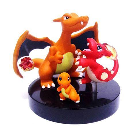 Pokemon:  -004 Charmander  -005 Charmeleon  -006 Charizard  Set: SP01  Capsule: 2  Price range: $150+    #Charmander #Charmeleon #Charizard #Pokemon #Zukan #scale #figure #figures #SP01