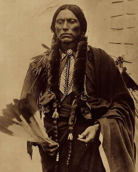 QUANAH PARKER—KWAHADI COMANCHE  Comanche Chief Quanah was the son of white captive Cynthia Ann Parker, who raised him to respect his Indian heritage. In his late 20s, he fought to resist the intrusion of the buffalo hunters into Comanche territory, leading his warriors at the famous Battle of Adobe Walls.