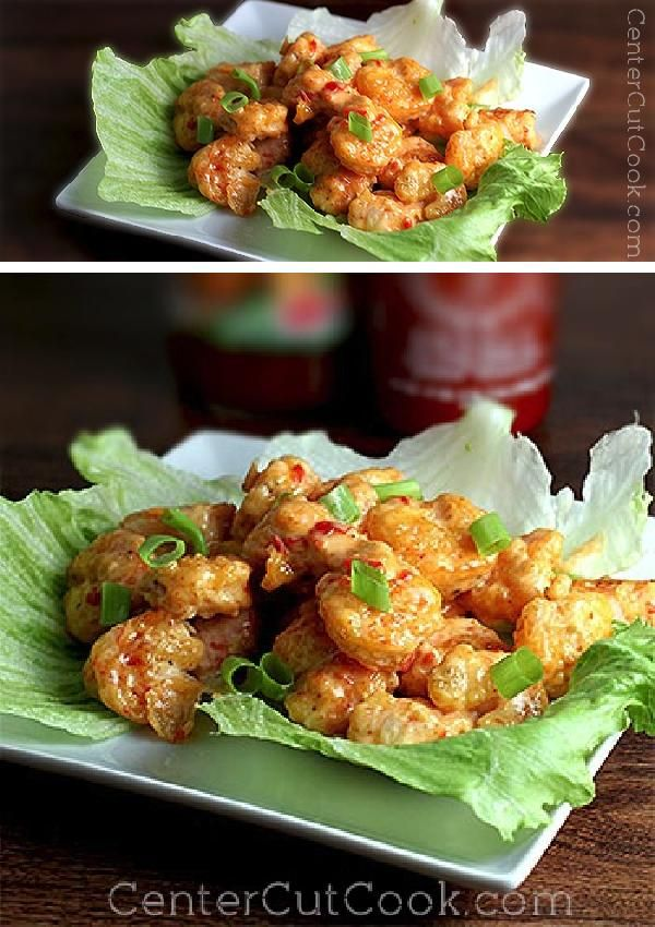This is my take on BONEFISH Grill's popular appetizer, BANG Bang SHRIMP! Crispy shrimp get tossed in a creamy, spicy sauce. The result is utterly delicious, and addicting!