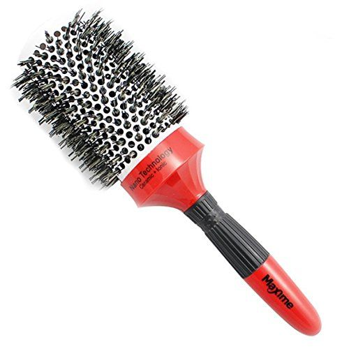 MAXIME Ceramic Thermal Brush with Ionic Round Barrel and Boar Bristle 2 Inch, for Hair Drying, Styling, Curling and More that Increases Volume, Shiny and Beauty on Your Hairstyle  ✓ AMAZING CERAMIC THERMAL BRUSH - Its crafted into perfection with the power of ionic technology which molded into the bristles and ceramic barrels that heats up during blow-drying that helps hair dry faster and creates static-free hairstyles.  ✓ NATURALLY HYDRATING - When brushing your hair with our round ba...