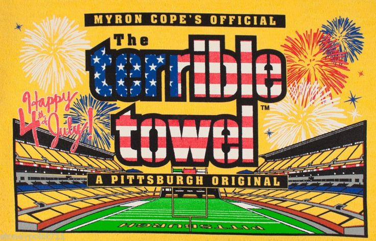 New July 4th Edition Of The Terrible Towel Pittsburgh