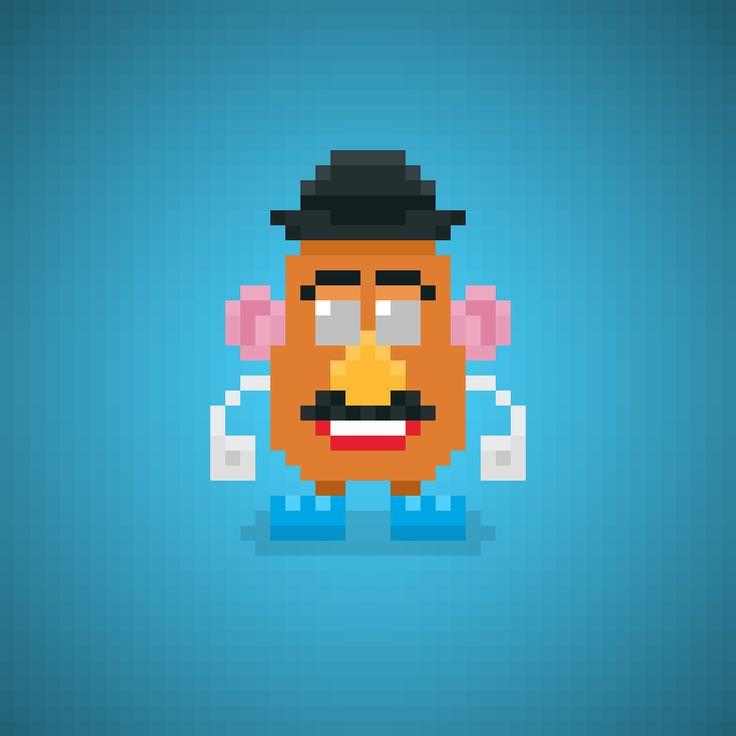 Mr Potato (Don Rickles) from Toy Story Series #mrpotatohead #mrpotato #potato #donrickles #angelonicotra #disney #pixar #disneypixar #andy #cartoons #cartonianimati #pixel #pixelart #16bit #instacartoon #toys #toystory #instatoys #giocattoli #toy #instagood #artist #theoluk #all_pixs #cute #awesome #instapix