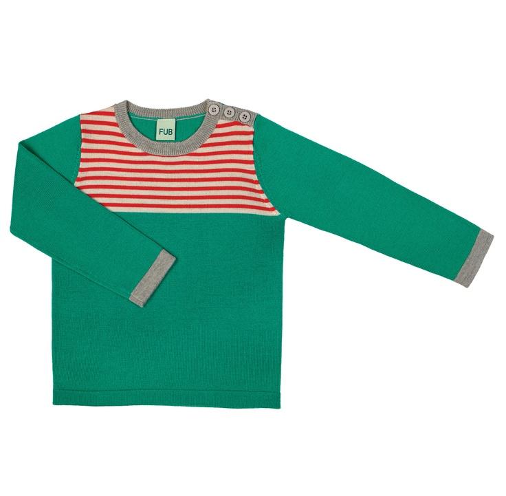 FUB - Trui groen/ecru/rood  looooooove this one!