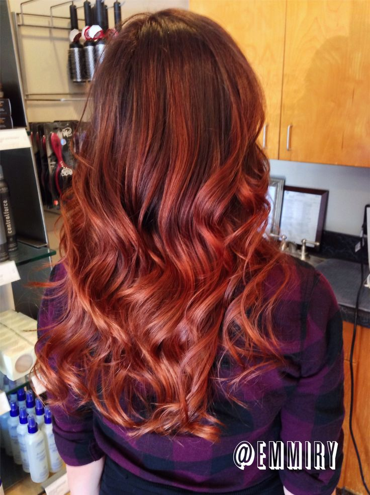copper red ombre balayage red ombre balayage pinterest. Black Bedroom Furniture Sets. Home Design Ideas