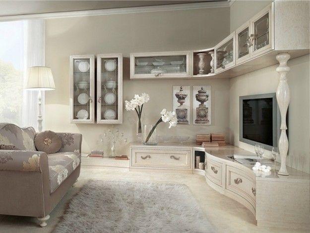 Parete attrezzata classico moderna arredamento for Modo 10 parete attrezzata