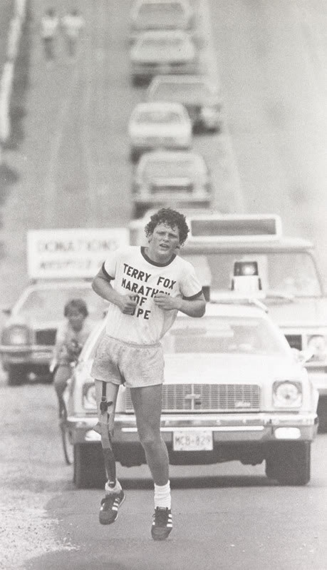 Terry Fox : One Of The Most Famous Canadians Of All Time Running The Marathon Of Hope 1980