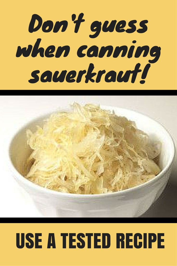 Don't guess when home canning sauerkraut. Follow a recipe that has been tested, such as one from the National Center for Home Food Preservation  to make sure no acid tolerant pathogens contaminate it.