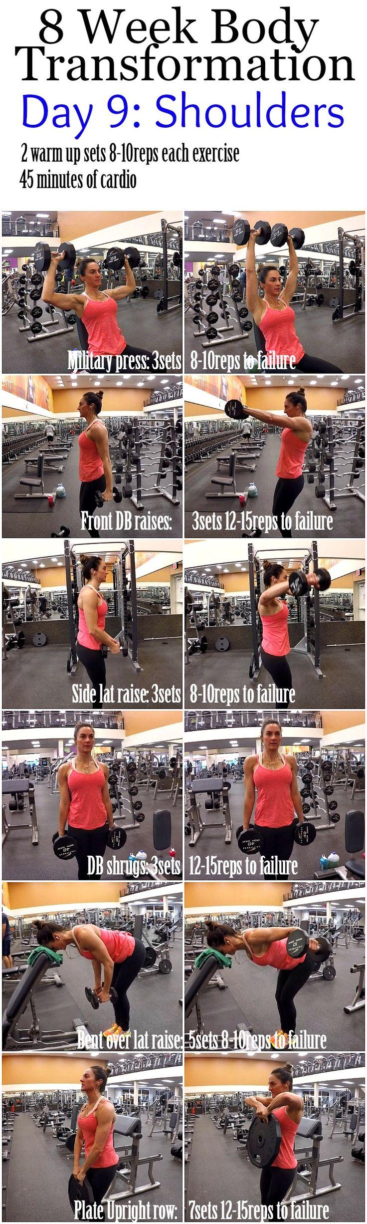 8 Week Body Transformation: Day 9 Shoulders