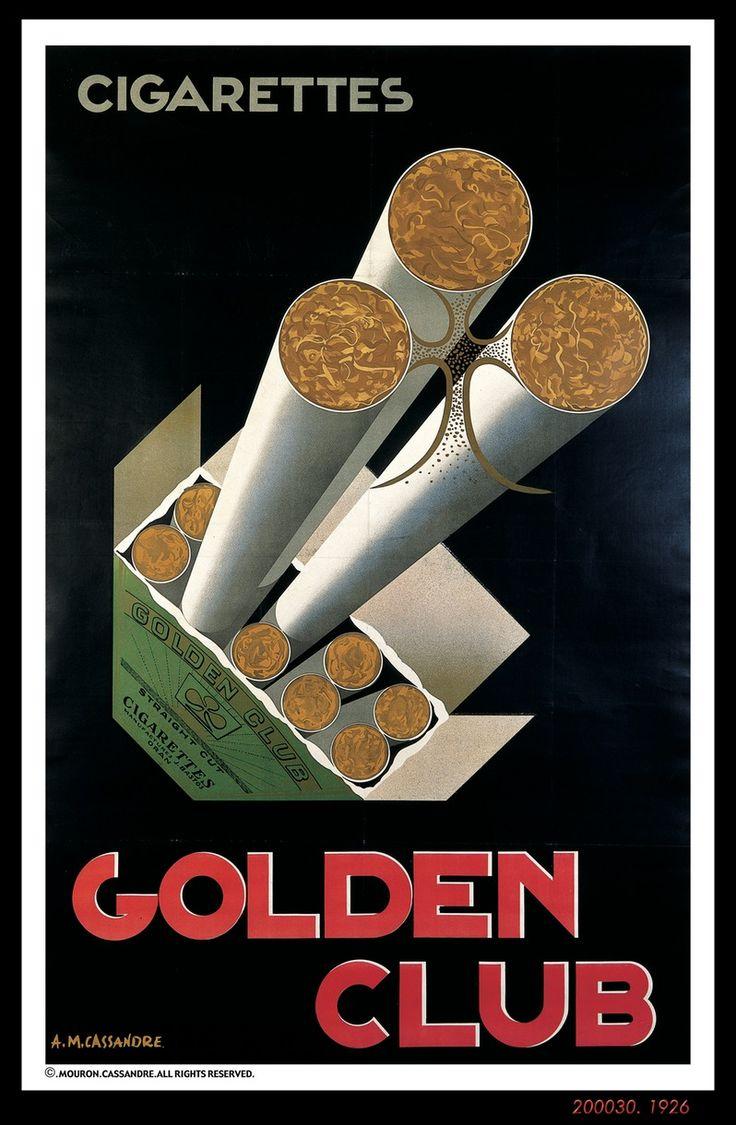 cigarettes Golden Club - illustration de Cassandre - 1926