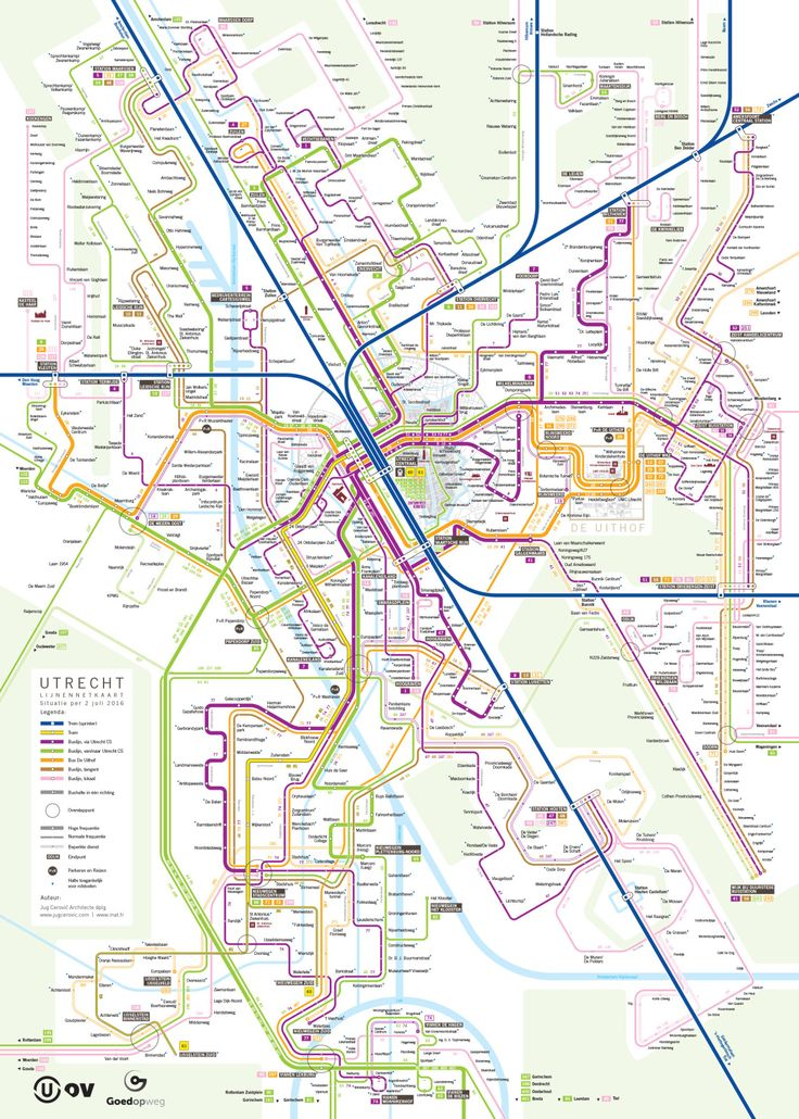 Submission Official Map Multimodal Transit Map For Utrecht The - Transit map