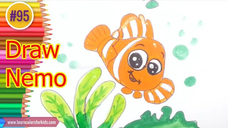 How to Draw Finding Nemo coloring pages for kids #95