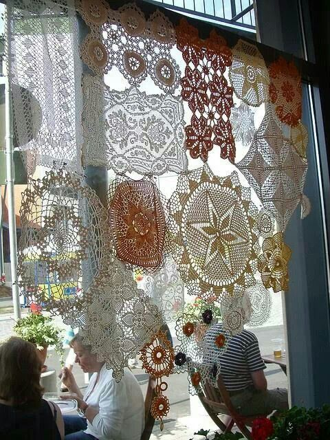 Doily curtain