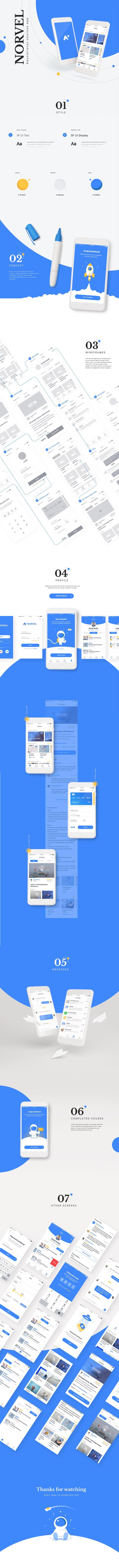 """다음 @Behance 프로젝트 확인: """"Norvel Mobile App"""" https://www.behance.net/gallery/55441199/Norvel-Mobile-App"""