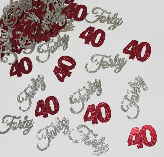 40th birthday party decorations 40th anniversary by PartyParts