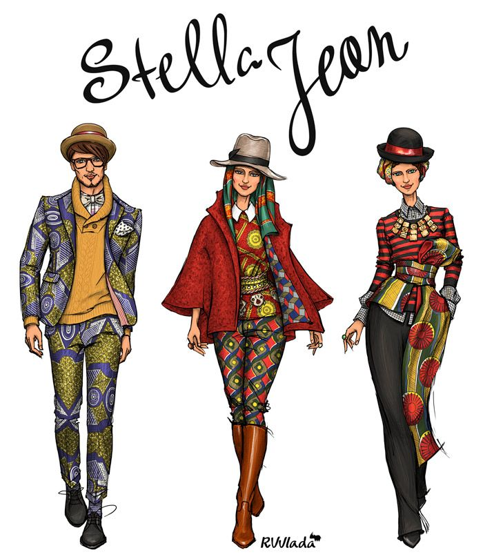 Stella Jean Fall 2013 By RVVlada #rvvlada #stellajean #fashionillustration  #fall2013 #fashion