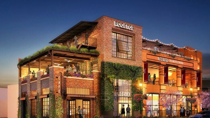 The building that houses the Rooftop Restaurant & Bar in Walnut Creek, California