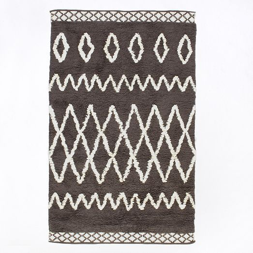 Kasbah Wool Rug   Steel | West Elm