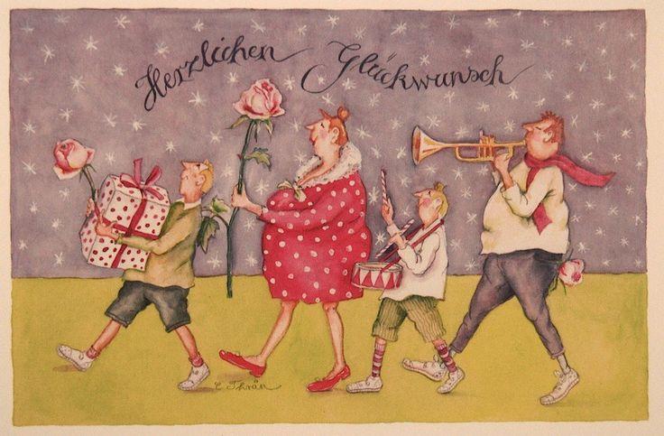 """Christina Thrän   Briefkarte """"Herzlichen Glückwunsch"""""""