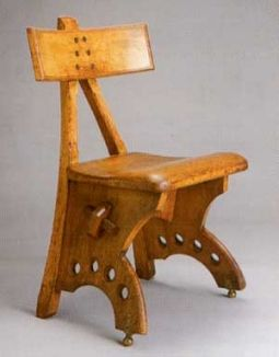 Pugin The Granville Chair. Design 1870A wider appeal for the Gothic revival developed in the latter half of the nineteenth century .. For those in the avant garde, seeking relief from the oppressive classical tradition the new 'Gothick ' was very appealing as it evoked a medieval sense of barbarism, of heroic endeavour and of the heartiness of 'Merry England' in the middle ages.