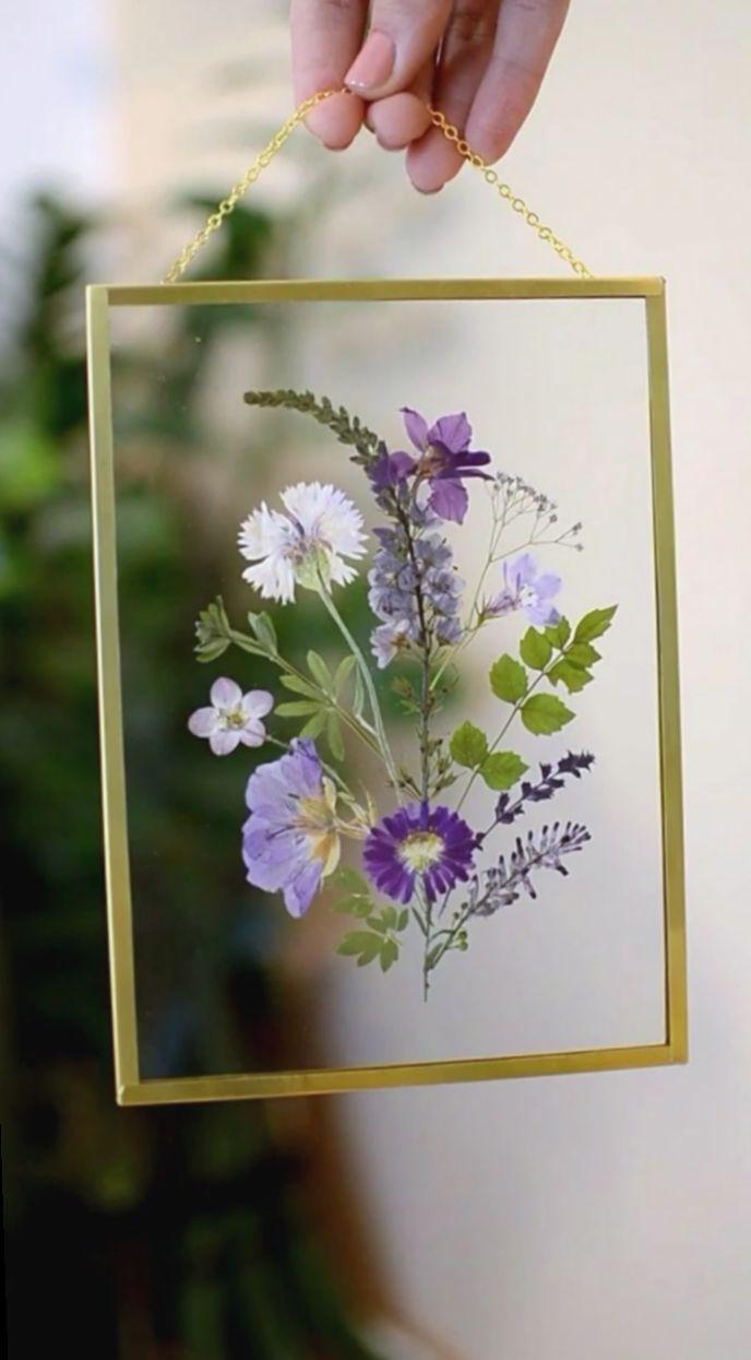 10 Diy Geschenke Videos Glas Pressed Flowers Diy Pressed Flower Crafts Pressed Flowers Frame