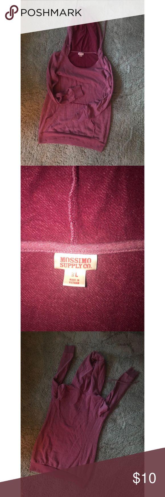 Mossimo Tunic Sweatshirt! Mossimo tunic Burgundy sweatshirt! Mossimo Supply Co Tops Sweatshirts & Hoodies