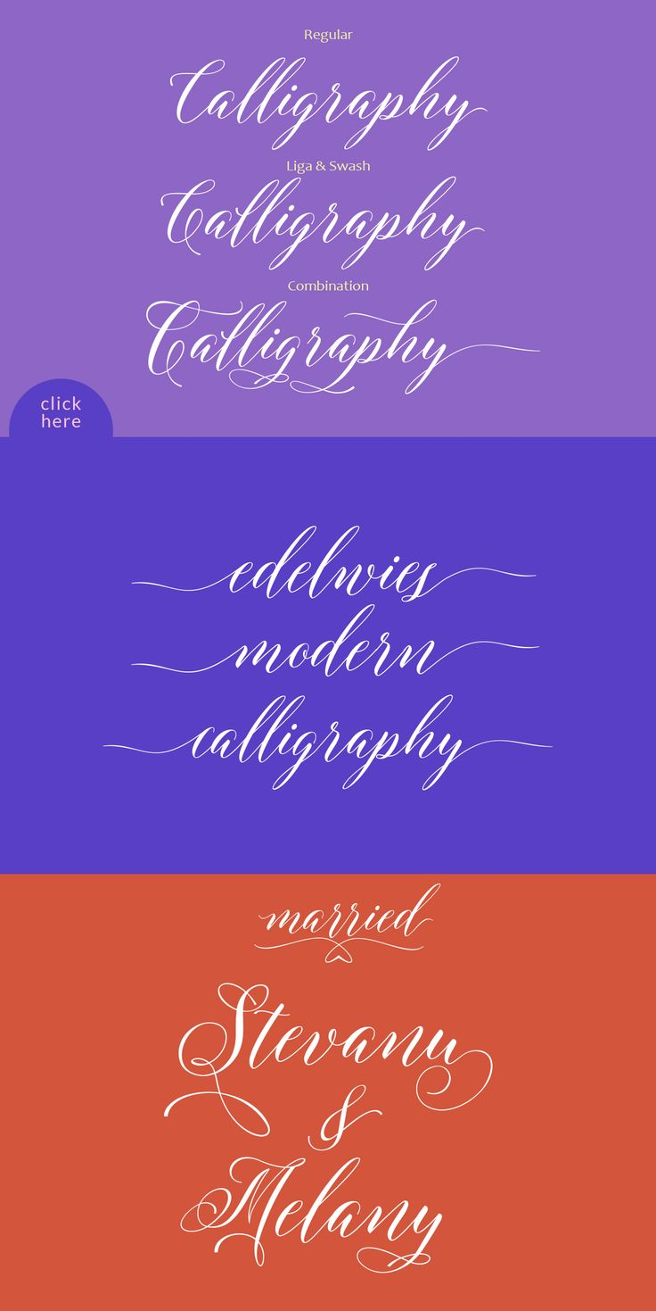 Edelwies Script font calligraphy is modern with smooth lines, pointy-edged pull pens, a blend of classic and modern and elegant touch.