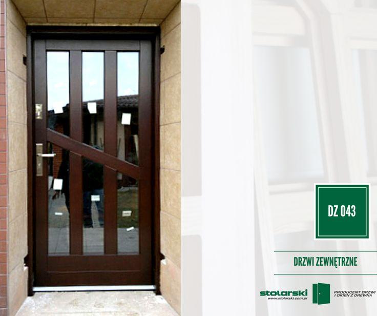 Drzwi zewnętrzne MODEL DZ 043 #drzwidrewniane #drzwizewnetrzne #door #wood #stolarnia #drzwimarzeń #realizacje www.stolarski.com.pl