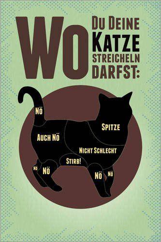 Poster 40 x 60 cm: Wo Du Deine Katze streicheln darfst vo... http://amzn.to/2gJWf34