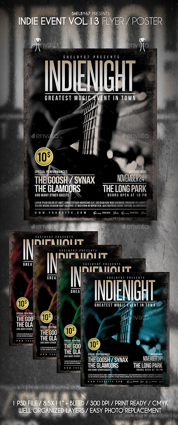 Indie #Event #Flyer Vol 13 - Events Flyers