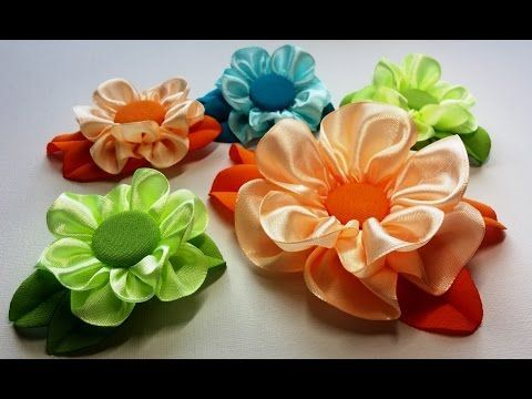 How to make a fabric flowers: satin rose/Мастер-класс: роза из атласа/handmade fabric flowers - YouTube
