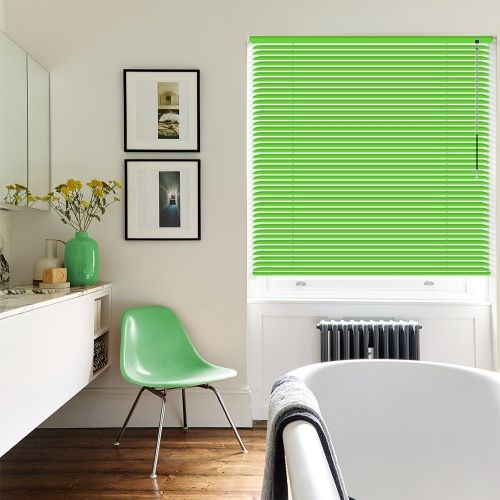 Gloss Green Venetian Blinds