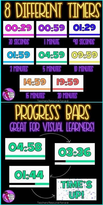 Countdown Timers For PowerPoint Fun Classroom Ideas Pinterest
