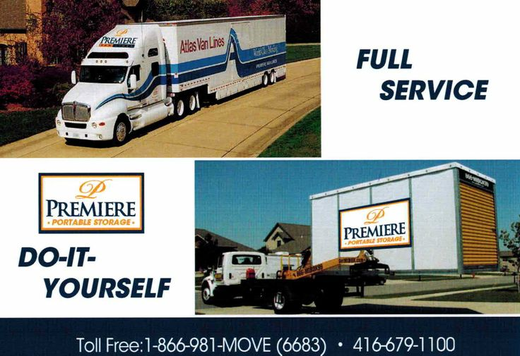 Looking for a portable storage unit? Our Premiere Van Lines Toronto can help you!