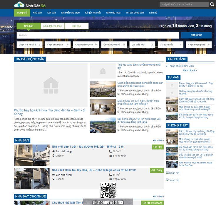 Mẫu web rao vặt bất động sản thumbnail