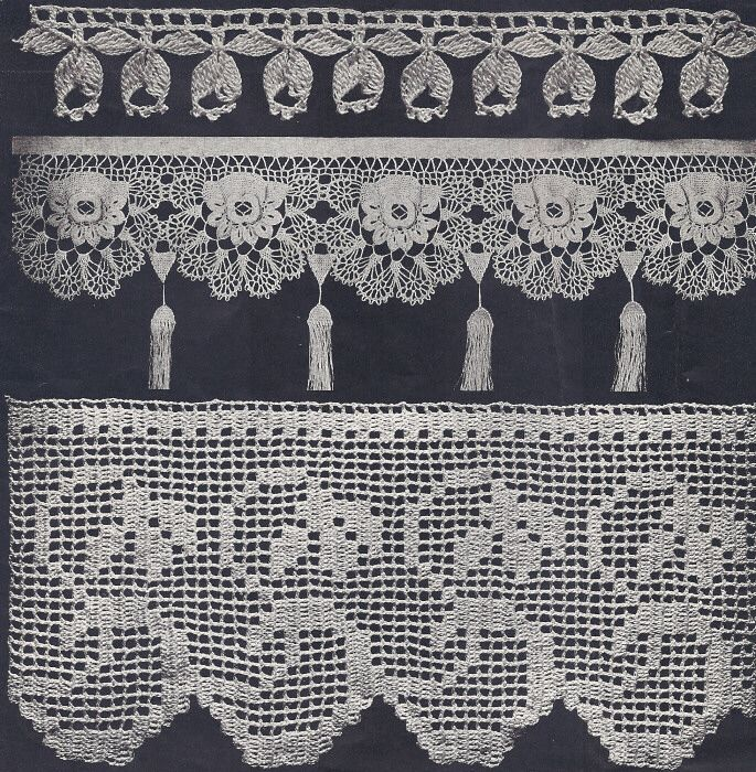 Antique Fancy Floral and Filet Crochet Edgings Pattern  (If I watched my late mother do one of these I watched her do a million!)