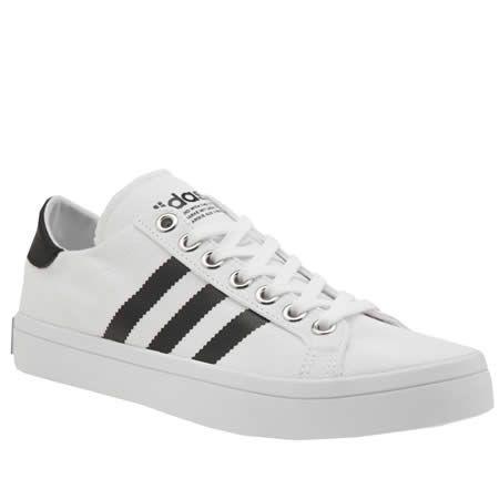 womens adidas white & black court vantage trainers