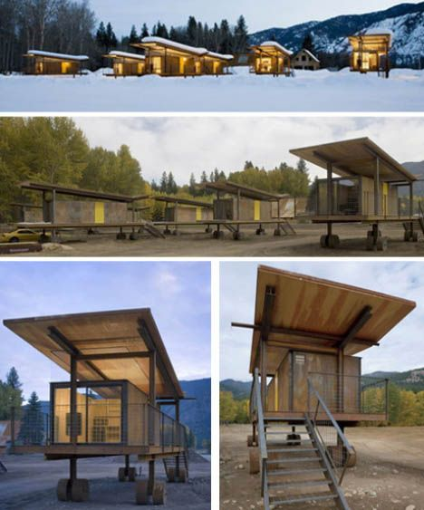 Rolling Huts is a modern alternative to camping, designed by Tom Kundig of Olson Sundberg Kundig Allen Architects in Seattle.