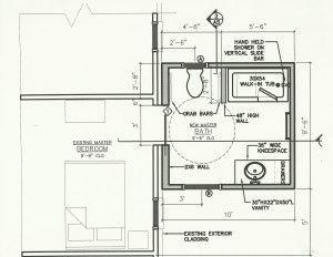 handicap bathroom floor plans #accessiblebathroomdesigns