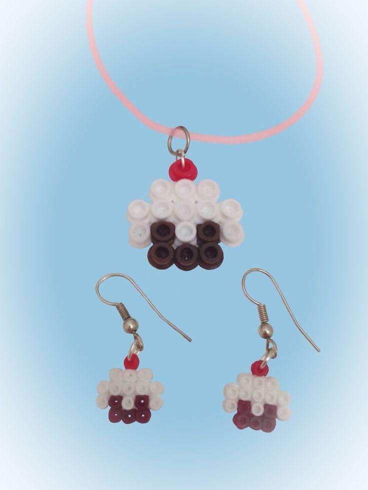 Pendientes y colgante Hama Beads