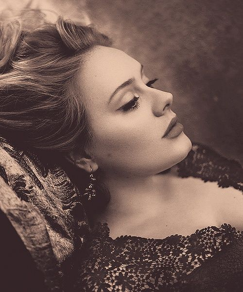 My hubby said I know you like Norah Jones and she's like a fine chocolate but Adele... she is as smooth as an aged bourbon. Wow the logic...