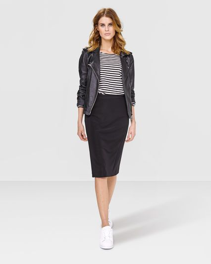 DAMES BLACK KOKERROK Zwart - WE fashion. €44,99