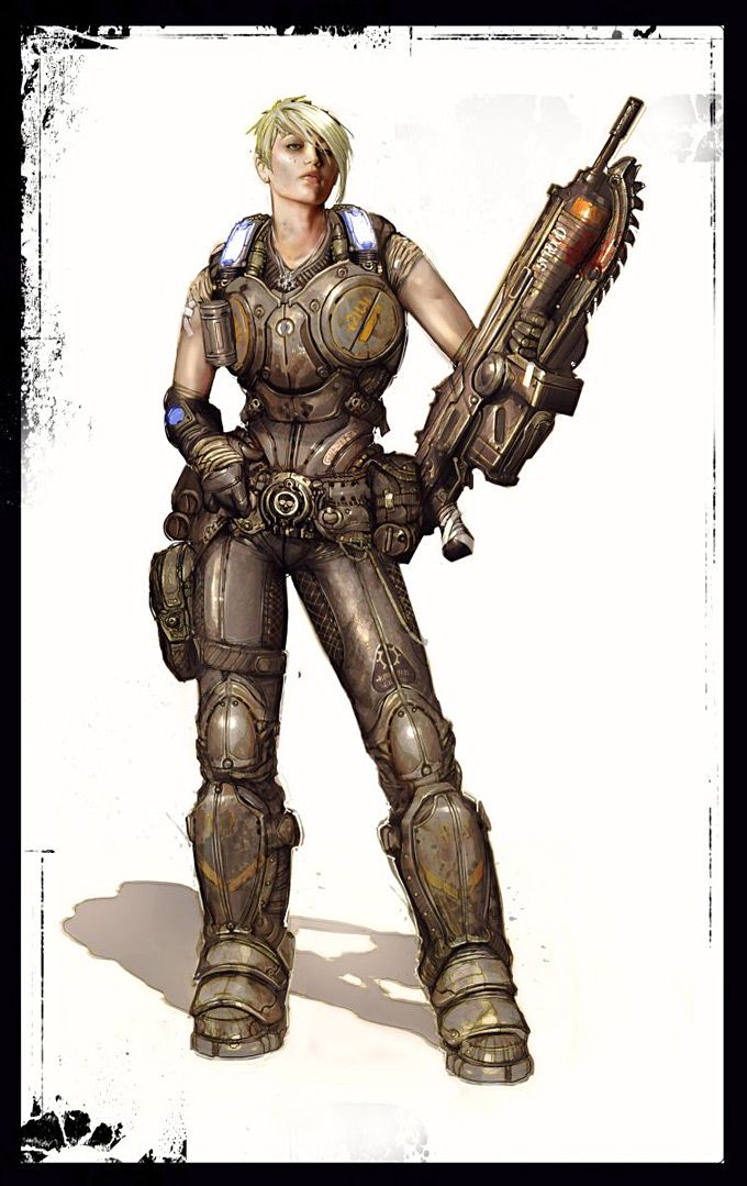 Gears of Wars 3 Concept Art #conceptart- More Character Designs at Stylendesigns.com!