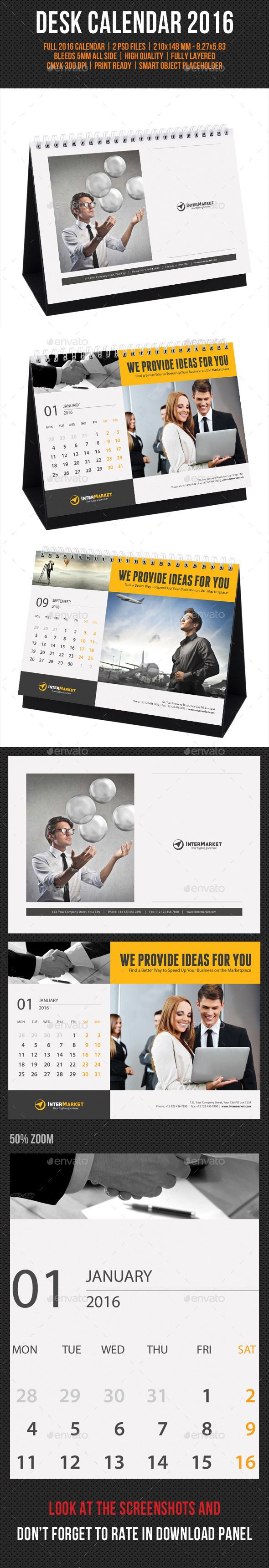 Corporate Desk Calendar 2016 - Calendars Stationery