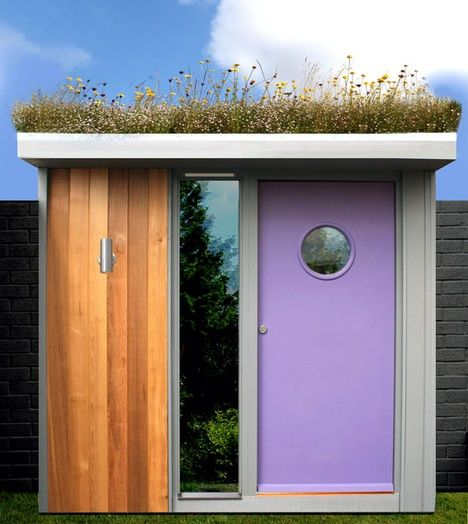 living roof: Rooftops Gardens, Guest Cottages, Tiny Houses, Green Roof, Front Doors, Green Rooms, Gardens Sheds, Modern Sheds, Living Roof