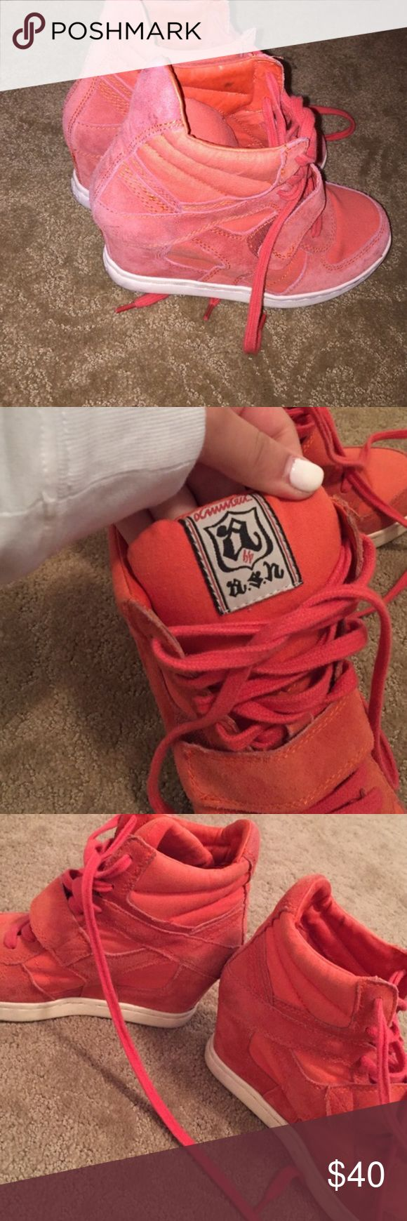 ASH orange sneakers Worn one time. Comfy Ash Shoes Ankle Boots & Booties