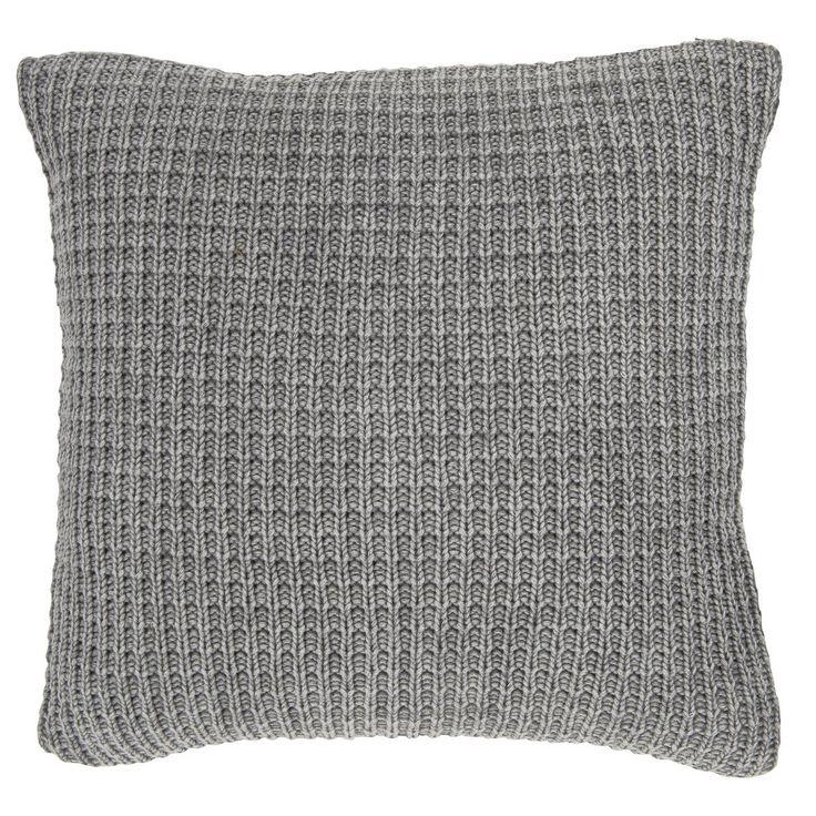 Gestrickter Kissenbezug aus reiner, weicher Baumwolle